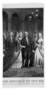 George Washington's Reception At White House - 1776  Beach Towel