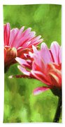Gerbera Daisies To Brighten Your Day Beach Towel
