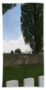 German Bunker At Tyne Cot Cemetery Beach Towel