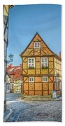 Germany - Half-timbered Houses And Alleys In Quedlinburg Beach Towel