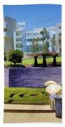 Getty Gardens Beach Towel