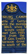 Gettysburg Campaign Beach Towel