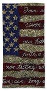 Gettysburg Homage Flag Beach Sheet