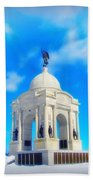 Gettysburg Memorial In Winter Beach Towel