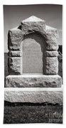 Gettysburg National Park Third West Virginia Cavalry Monument Beach Towel