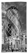 Gherkin And St Andrew's Black And White Beach Towel