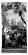 Ghostly Bok Tower Beach Towel