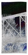 Ghostly Bridge Beach Towel