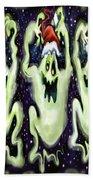 Ghostly Christmas Trio Beach Towel