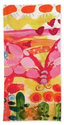 Giant Nutterbutterfly Beach Towel