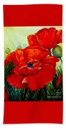 Giant Poppies 3 Beach Towel