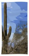 Giant Saguaro Beach Towel