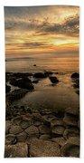 Giants Causeway Sunset Beach Towel