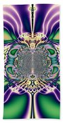 Gift Bows Fractal Abstract Beach Towel