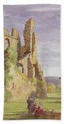 Gight Castle, 1851 Beach Towel