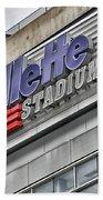 Gillette Stadium Sign Beach Towel