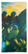 Gimie Dawn 1 - St. Lucia Parrots Beach Towel