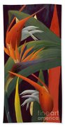 Ginger And Bird Of Paradise Beach Towel