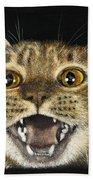 Ginger Cat Eyes Beach Towel