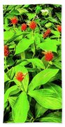 Ginger Flowers Beach Towel