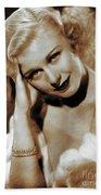 Ginger Rogers, Actress Beach Sheet