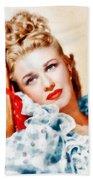Ginger Rogers By John Springfield Beach Towel