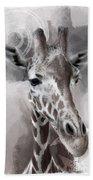 Giraffe No 01 Beach Sheet