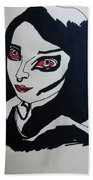 Girl After Midnight Beach Towel