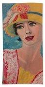Girl From The Twenties Beach Towel