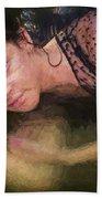 Girl In The Pool 13 Beach Towel