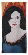 Girl Of Fire Beach Towel