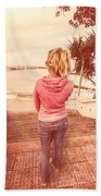 Girl On Redcliffe Travel Holiday Beach Towel