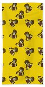 Girl With Popsicle Yellow Beach Towel