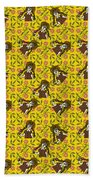 Girl With Popsicle Yellow Floral Beach Towel