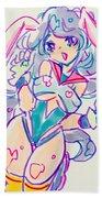 Girl02 Beach Towel