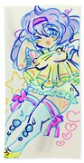 Girl04 Beach Towel