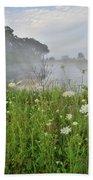 Glacial Park Pond Reflection Beach Towel