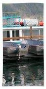 Glacier Boating Beach Towel