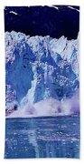 Glacier - Calving - Reflection Beach Towel
