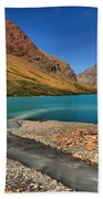 Glacier Cracker Lake Beach Towel