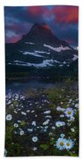 Glacier National Park At Dawn Beach Towel