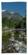 Glacier National Park-st Mary's River Beach Towel