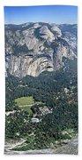 Glacier Point Panorama - Yosemite Valley Beach Towel