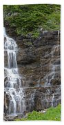Glacier Waterfalls Beach Towel
