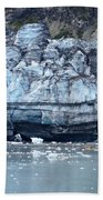 Glacier With Kayakers Beach Towel