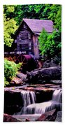 Glade Creek Grist Mill 004 Beach Towel