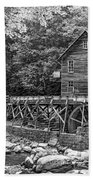 Glade Creek Grist Mill 2 Bw Beach Towel