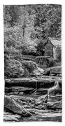 Glade Creek Grist Mill 3 - Paint 2 Bw Beach Towel