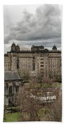 Glasgow Cathedral And Victoria Infirmary Beach Towel