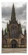 Glasgow Cathedral Front Entrance Beach Towel